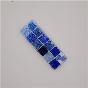 Preciosa Pressed Bead Box - Blue Mix