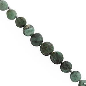 95cts Emerald Side Drill Graduated Plain Onion Approx 5x6 to 8x9mm, 22cm Strand With Spacers