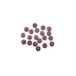 Precisoa Ornela Opaque Red Aqua Table Cut Hawaiian Flower Beads, 14mm (20pk)