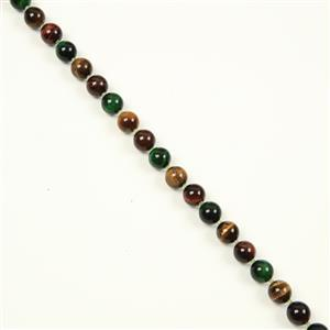 240cts Yellow,Red,Green Tiger's Eye Plain Rounds & Peridot Faceted Rounds, Approx10&2mm, 38cm