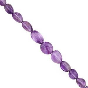46cts Pink Amethyst Smooth Tumble Approx 5.5x5 to 11.5x10mm, 17cm Strand
