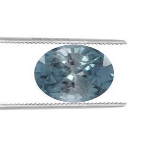 1cts Ratanakiri Blue Zircon 7x5mm Oval  (H)