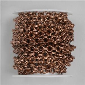 3m Antique Copper Plated Brass Chain (5.5mm Double Link)