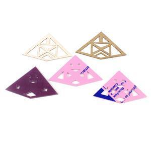 Multi Media Pendants: 3x Sour Grape Acrylic Pendants & 2x Oak Veneer Pendants (5pcs)