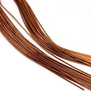 "12"" Antique Copper Colour Copper French Wire Approx. 1.00mm (20pcs)"