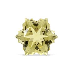 1.8cts Green Gold Quartz 8x8mm Snowflake  (I)