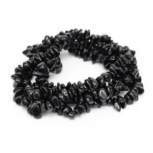 330cts Black Tourmaline Small Nuggets Approx 9x4mm, 84cm