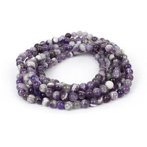 450cts Banded Amethyst Plain Rounds Approx 6mm,  60