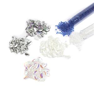 Jack Frost; 4 x Flint Pendant Beads (400pcs), Miyuki Seed Beads 2 x 11/0's