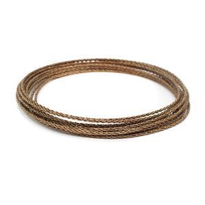 Artistic Wire Antique Brass Round Braid Wire, 16 Gauge/1.3mm, 7.5ft/2.29m