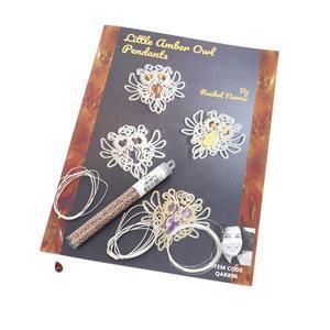 Little Cherry Amber Owls Kit & Booklet by Rachel Norris