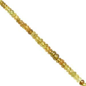 25cts Ambilobe Sphene Graduated Faceted Rondelles Approx 2.5x1 to 4.5x2.5mm, 20cm Strand