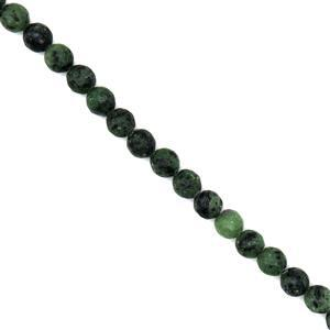 275cts Ruby Zoisite Faceted Rounds Approx 10mm, 38cm Strand