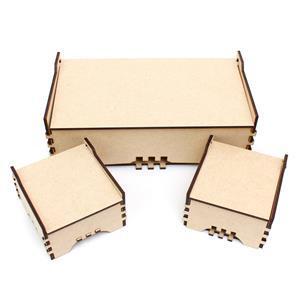 MDF Jewellery Box Set Inc. 1 Large & 2 Small