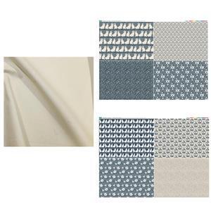 Staffordshire Mantelpiece Four Patch Bed Runner Bundle: FQ (8pcs) & Fabric (1m)