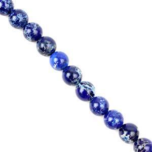 200cts Lapis Blue Variscite Plain Rounds Approx 10mm 38cm