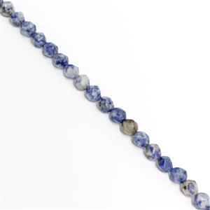 190cts Blue Jasper Diamond Cut Rounds Approx 10mm, 38cm Strand