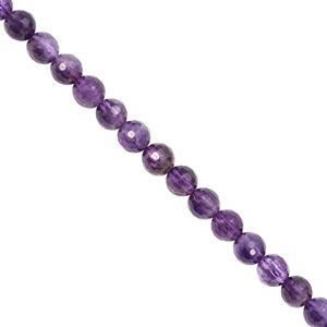 72cts Dark Amethyst Faceted Round Approx 6mm, 28cm Strand