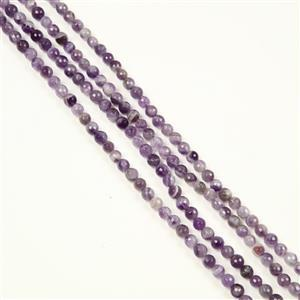 380cts Banded Amethyst Faceted Rounds Approx 6mm, 150cm Endless strand