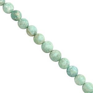 345cts Amazonite Smooth Round Approx 4.50 to 8mm, 100cm Strand