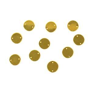 Gold Colour Base Metal Blank Circle Connector, Approx 12mm (10pcs)