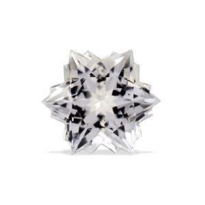 4.8cts White Topaz 10x10mm Snowflake  (N)