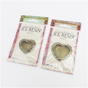Antique Bronze Heart Bezel Collection.