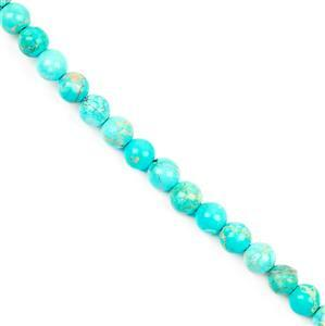 50cts Turquoise Green Variscite Plain Rounds Aprrox 6mm 38cm