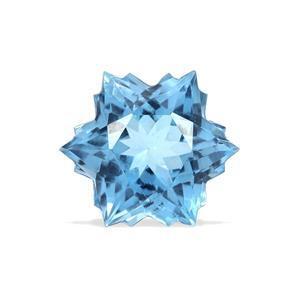 2.4cts Swiss Blue Topaz 8x8mm Snowflake  (I)