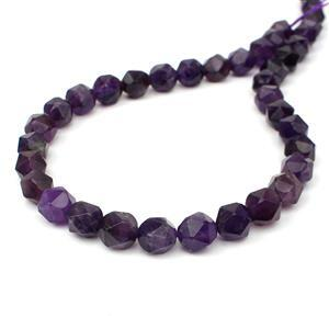 220cts Amethyst Diamond Cut Rounds Approx 10mm, 38m Strand