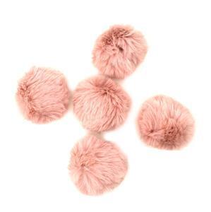 Petula Faux Fur Pom Poms, Approx 8cm (5pcs/pack)