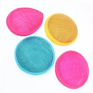 Bright & Breezy! Inc; Cerise, Teal & Gold Colour Cambric Fascinator Bases