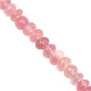 15cts Natural Burmese Tourmaline Graduated Plain Rondelles Approx 2x1 to 4x2mm, 16cm Strand