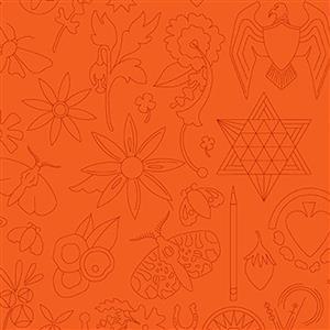 Alison Glass Sunprints Embroidery Pumpkin 0.5m