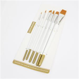 Set of 6 brush-wood & aluminum,    17.5-21cm