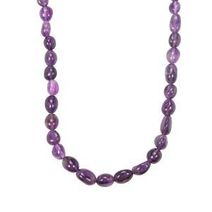 103ct Zambian Amethyst Sterling Silver Bead Necklace