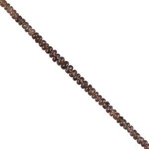 20cts Colour Change Garnet Graduated Faceted Rondelles Approx 2x1 to 4x2mm, 12cm Strand.