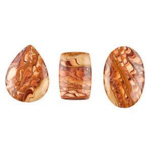 95cts Sandstone Multi Shape Cabochons Assortment.