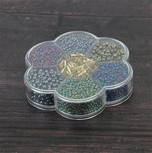 Preciosa Ornela Rocialles Flower Gift Box - Metallic Multicolour Beads Mix