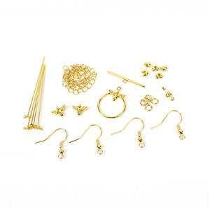 Gold Plated Base Metal Bumble Bee Findings Pack (28pcs)