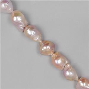 Natural Nucleated Metallic Freshwater Cultured Pearls Approx 19x15mm-25x19mm