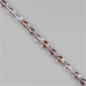 108cts Ametrine Graduated Faceted Center Drill Drops Approx 10x6 to 14x9mm, 20cm Strand.