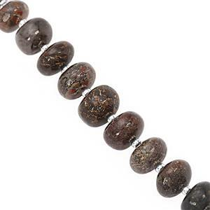 75cts Dinosaur Bone Graduated Smooth Rondelles Approx 6x4 to 10x6mm, 15cm Strand With Spacers