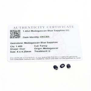 1.4cts Madagascan Blue Sapphire 6x4.25mm Fancy Pack of 3 (U)