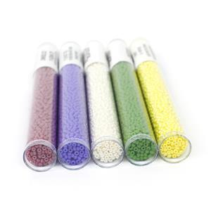 Kaleidoscope;Ivory, Purple, Jade, Yellow, Old Rose 11/0 Seed Beads & Loom Projects Booklet