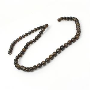 100cts Bronzite Plain Rounds Approx 6mm, 38cm