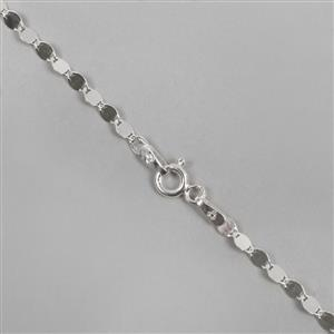 925 Sterling Silver Flat Mirror Chain with Approx 4x2mm Link, 18