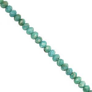 32cts Amazonite Faceted Rondelle Approx 4x2.5 to 4.5x3mm, 28cm Strand