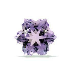1.9cts Rose De France Amethyst 8x8mm Snowflake  (H)