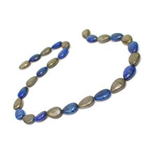 210cts Pyrite & Lapis Lazuli Pears Approx 10x14mm, 15